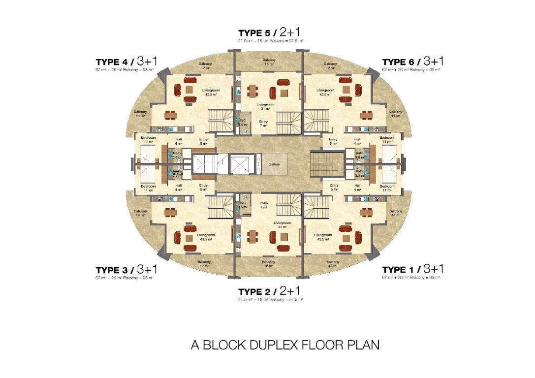 Квартира 2+1 в комплексе люкс класса с отельной инфраструктурой - Фото 47