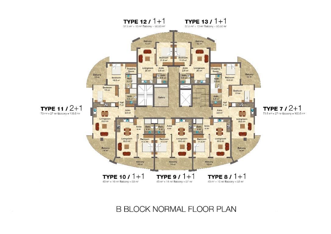 Квартира 2+1 в комплексе люкс класса с отельной инфраструктурой - Фото 48