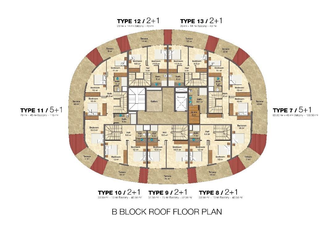 Квартира 2+1 в комплексе люкс класса с отельной инфраструктурой - Фото 49
