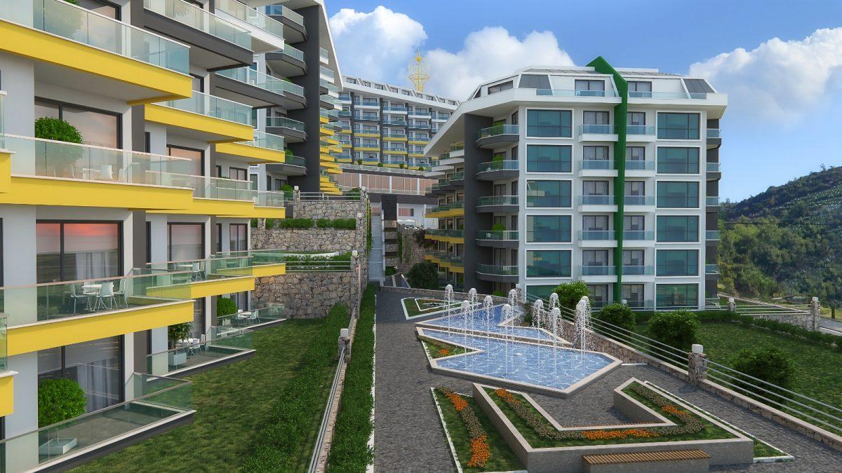 Квартира 1+1 в комплексе люкс в Каргыджаке - Фото 14