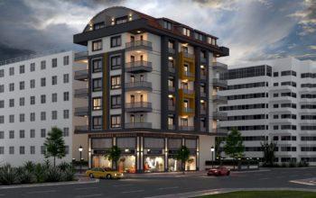 Проект уютного жилого комплекса в популярном районе Махмутлар