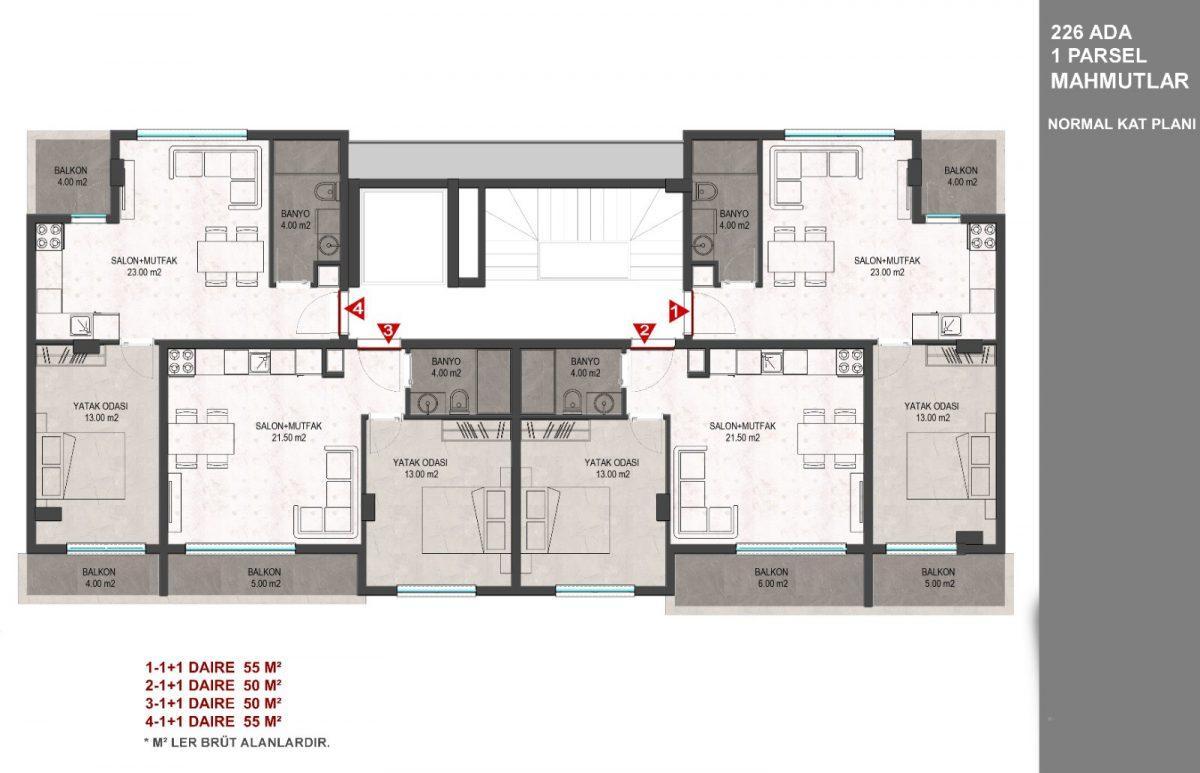 Новый комплекс в Махмутларе с доступными ценами - Фото 22