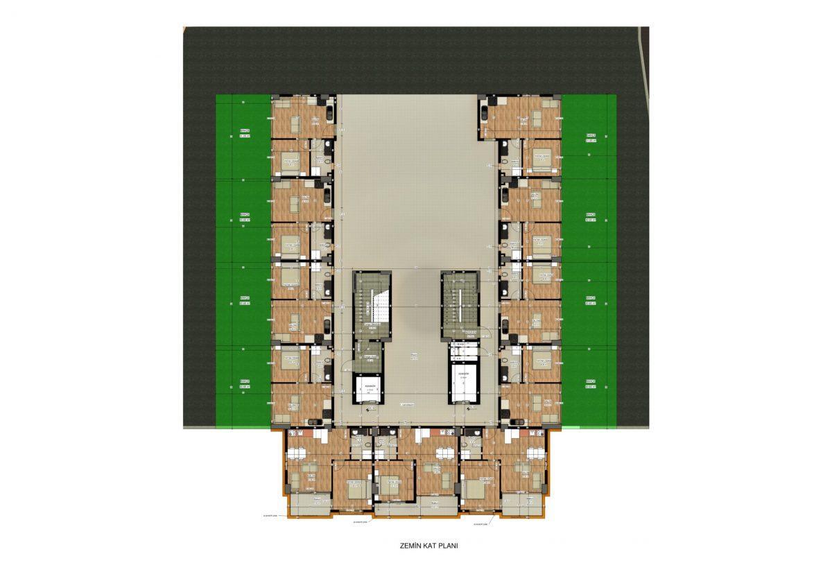 Апартаменты в ЖК премиум-класса в Авсалларе - Фото 45