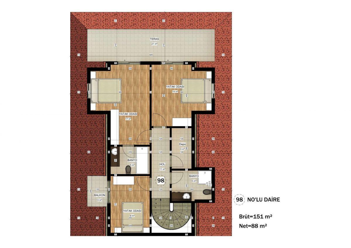 Апартаменты в ЖК премиум-класса в Авсалларе - Фото 26