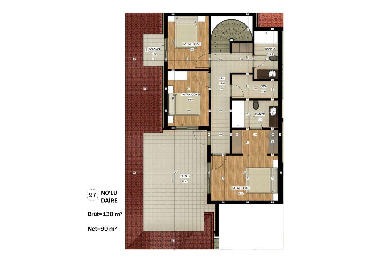 Апартаменты в ЖК премиум-класса в Авсалларе - Фото 28