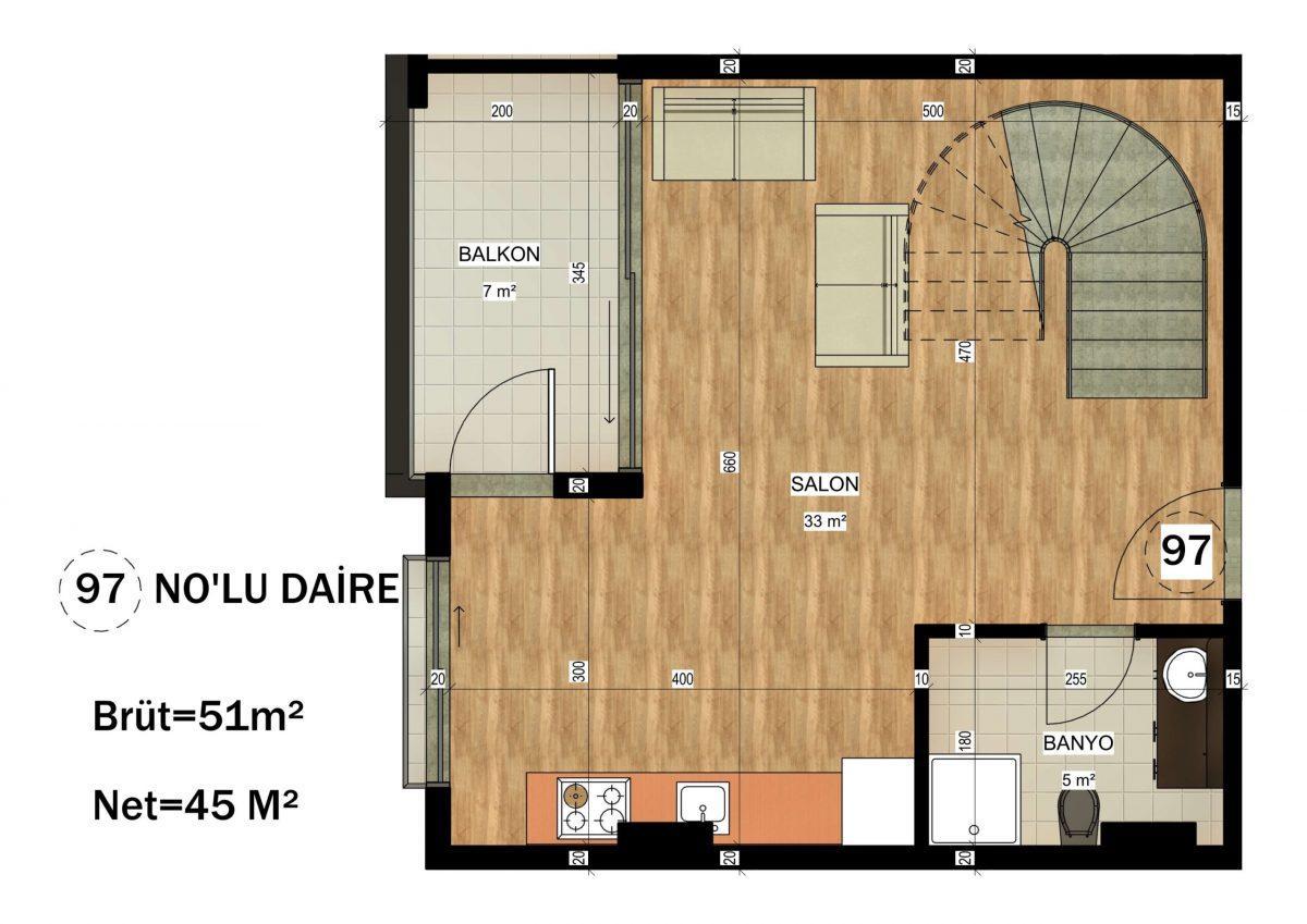 Апартаменты в ЖК премиум-класса в Авсалларе - Фото 29