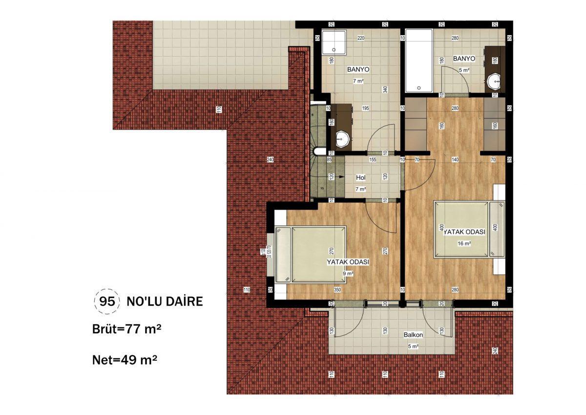 Апартаменты в ЖК премиум-класса в Авсалларе - Фото 30