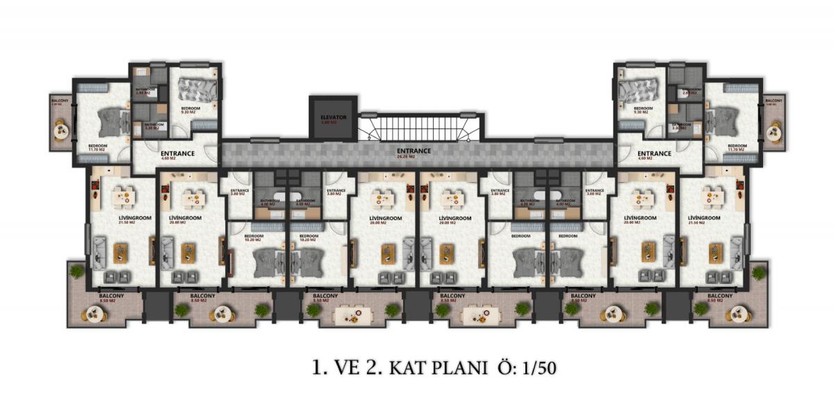 Квартиры в новом ЖК в районе Оба - Фото 21