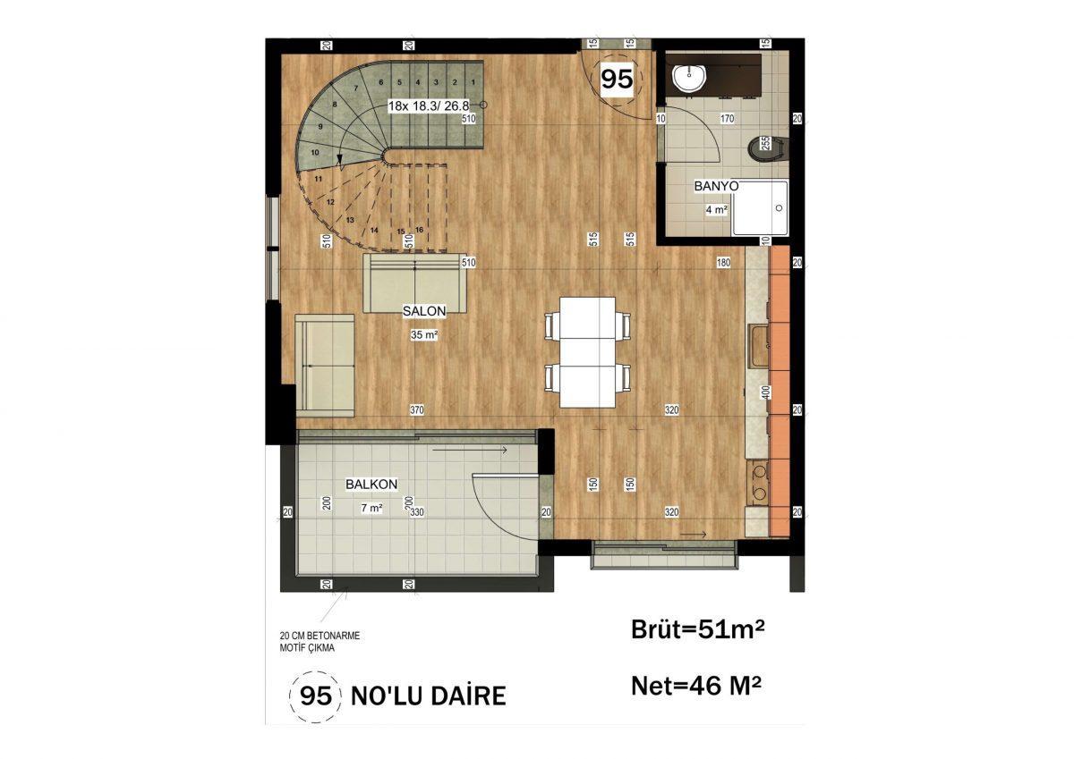 Апартаменты в ЖК премиум-класса в Авсалларе - Фото 31