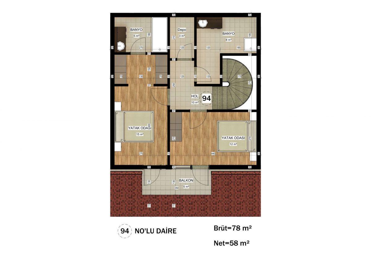 Апартаменты в ЖК премиум-класса в Авсалларе - Фото 32