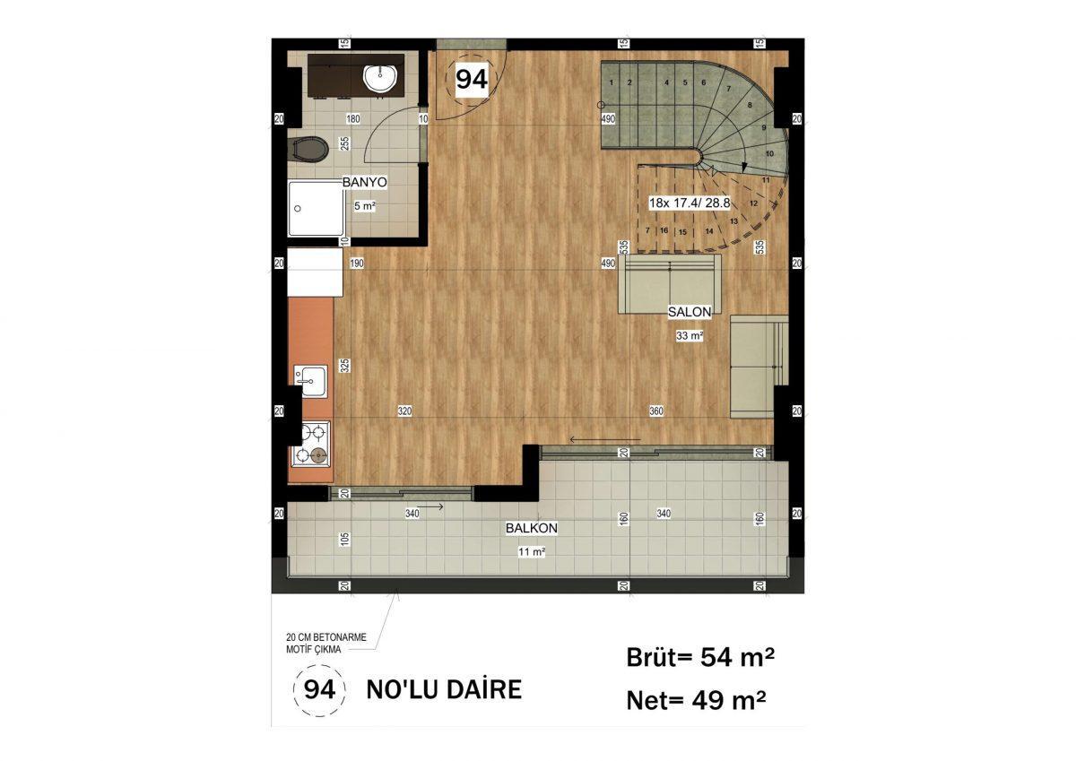Апартаменты в ЖК премиум-класса в Авсалларе - Фото 33