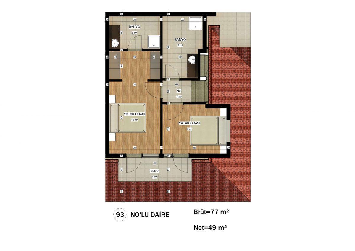 Апартаменты в ЖК премиум-класса в Авсалларе - Фото 34