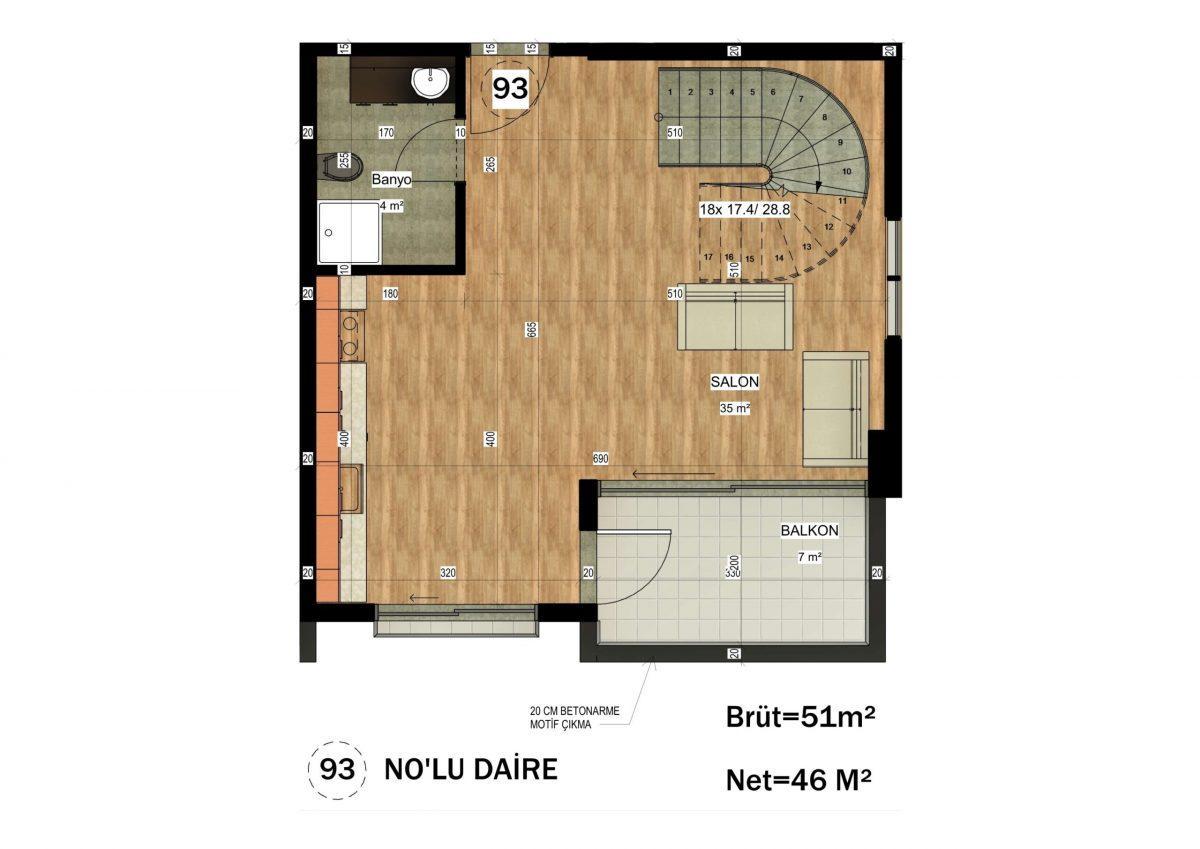 Апартаменты в ЖК премиум-класса в Авсалларе - Фото 35