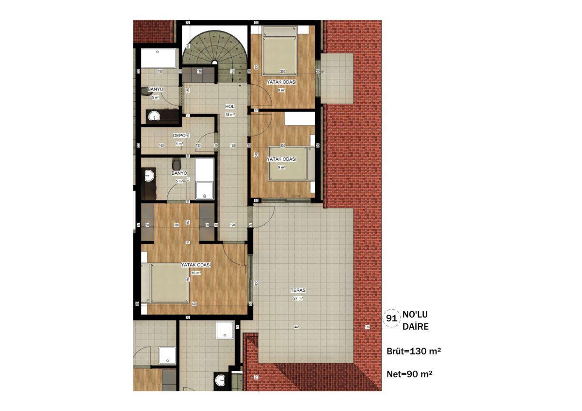 Апартаменты в ЖК премиум-класса в Авсалларе - Фото 36