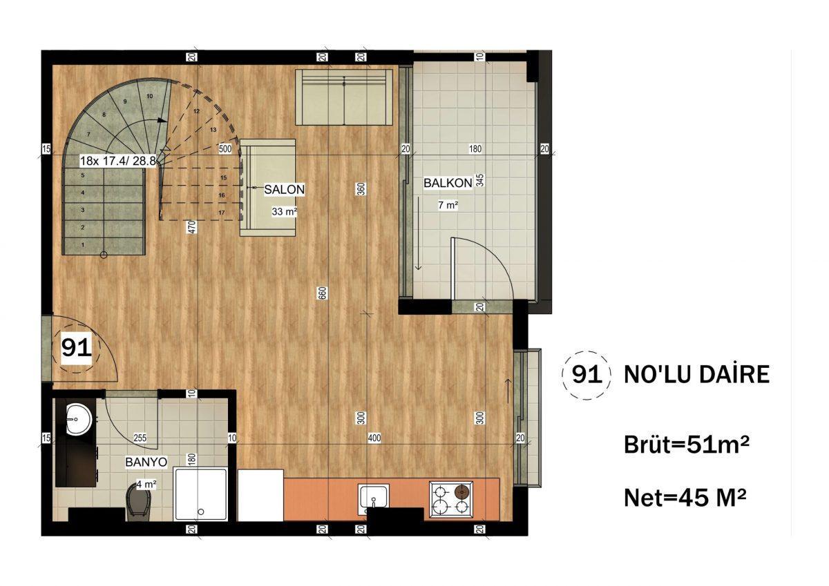 Апартаменты в ЖК премиум-класса в Авсалларе - Фото 37