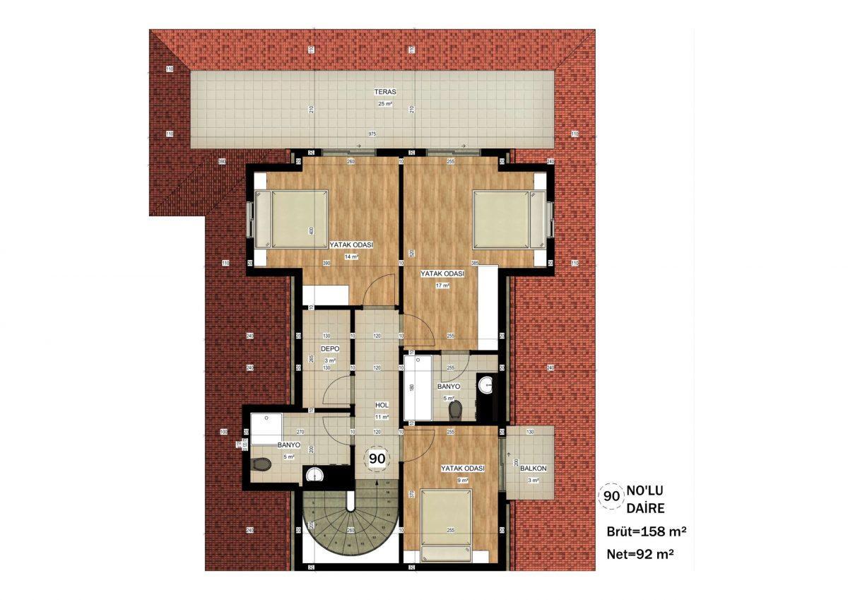 Апартаменты в ЖК премиум-класса в Авсалларе - Фото 39