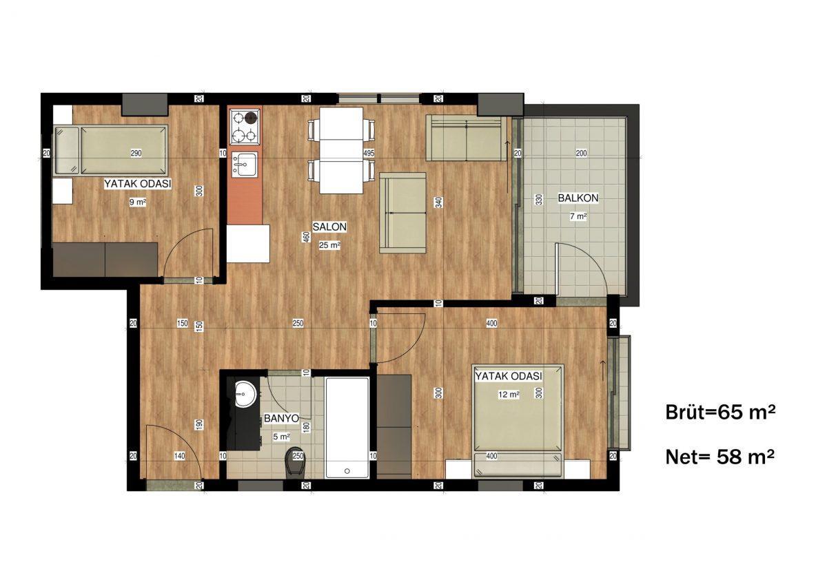 Апартаменты в ЖК премиум-класса в Авсалларе - Фото 41