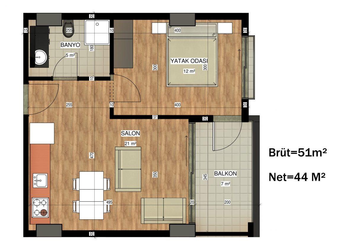 Апартаменты в ЖК премиум-класса в Авсалларе - Фото 42
