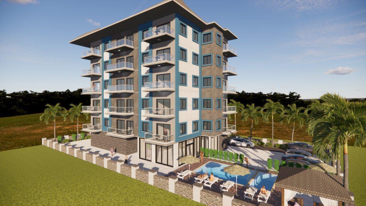 Апартаменты в новом комплексе в Авсалларе - Фото 1