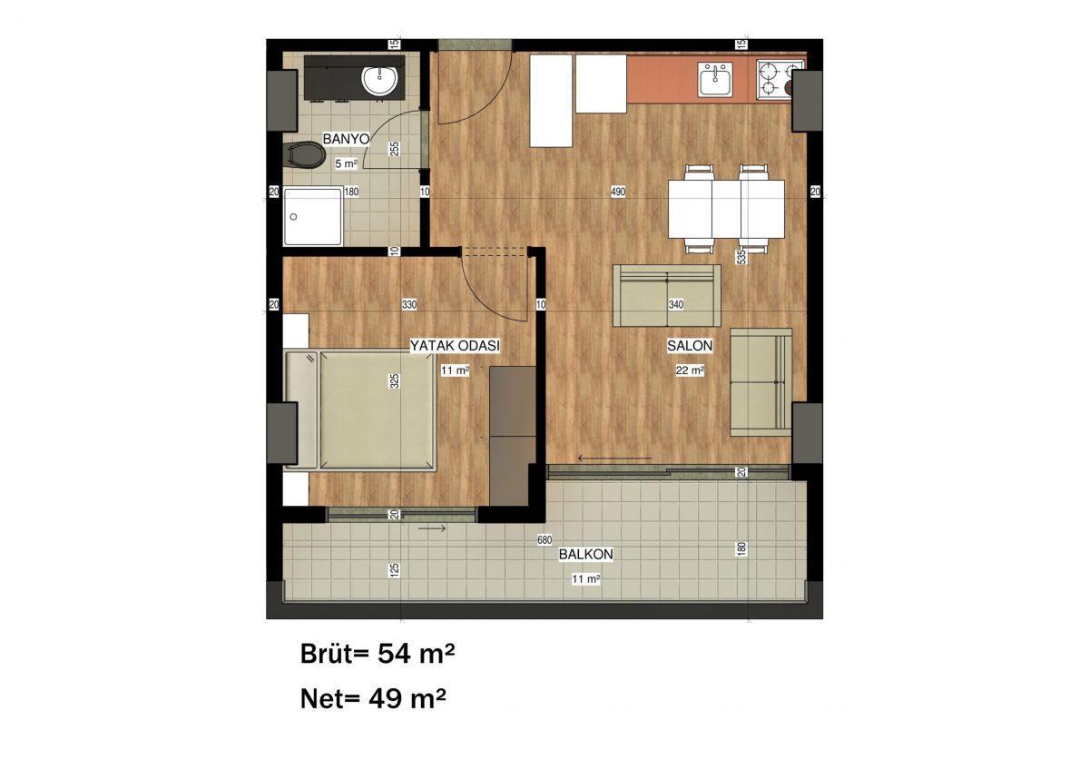 Апартаменты в ЖК премиум-класса в Авсалларе - Фото 43