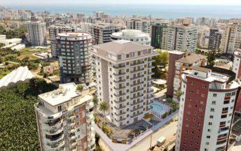 Апартаменты в новом ЖК в Махмутларе в 800 метрах от пляжа