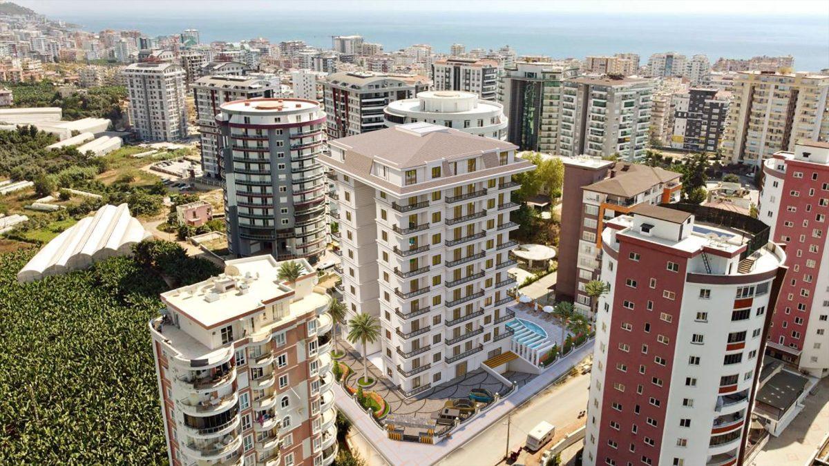 Апартаменты в новом ЖК в Махмутларе в 800 метрах от пляжа - Фото 1