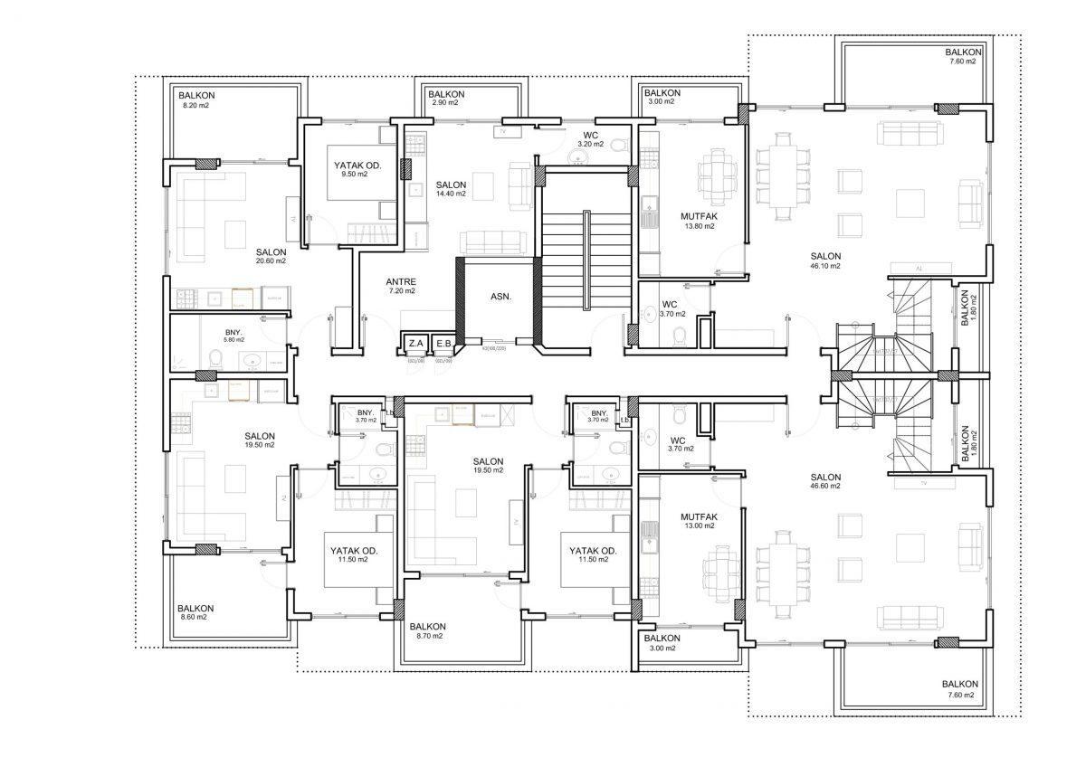 Апартаменты и пентхаусы в новом ЖК в Каргыджаке - Фото 33