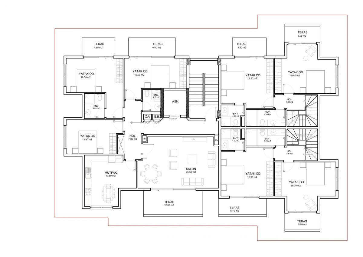 Апартаменты и пентхаусы в новом ЖК в Каргыджаке - Фото 34