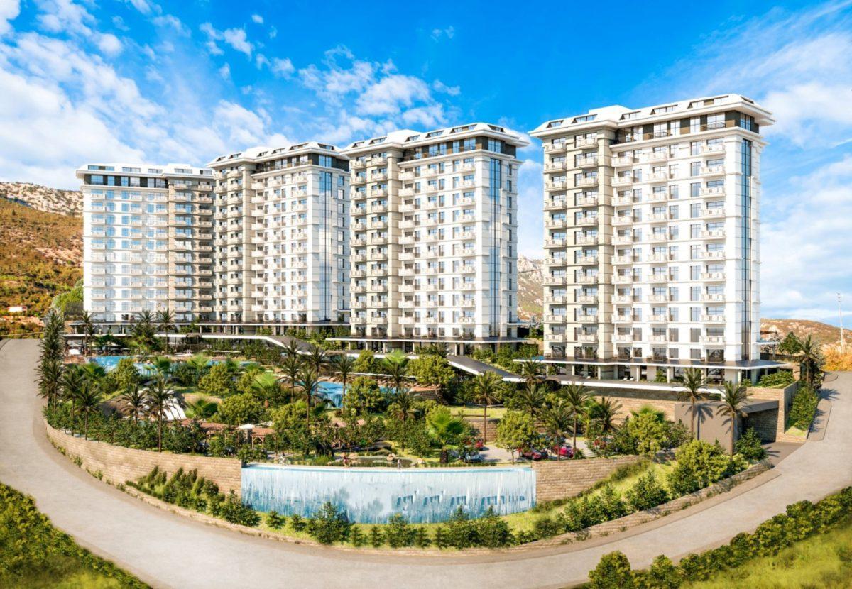 Квартиры в роскошном ЖК с собственным пляжем в Махмутларе - Фото 1