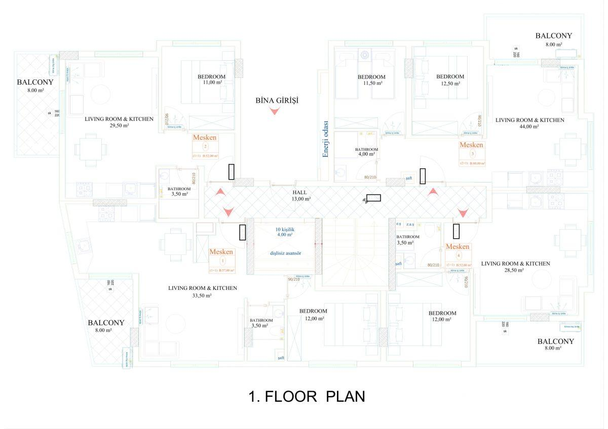 Апартаменты в новом комплексе в центре Махмутлара - Фото 17