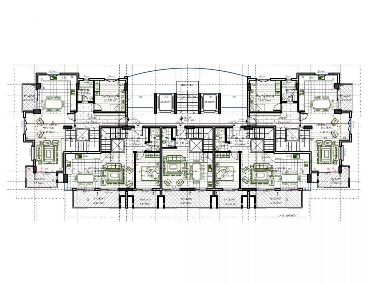 Новый комплекс класса люкс в Каргыджаке рядом с морем - Фото 60