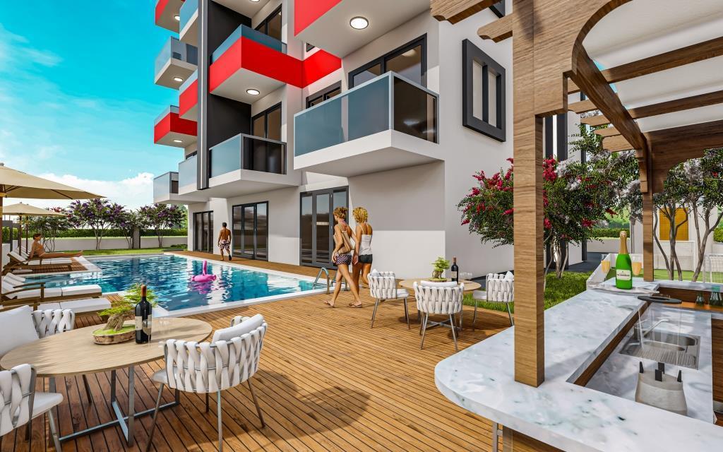 Инвестиционные апартаменты 1+1 в Авсаллар - Фото 8