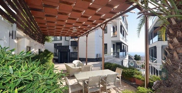 Апартаменты 2+1 с панорамным видом на Аланию - Фото 15