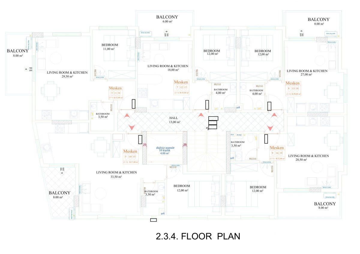 Апартаменты в новом комплексе в центре Махмутлара - Фото 18