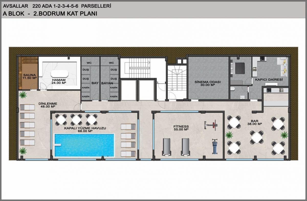 Квартиры в ЖК премиум-класса в Авсалларе - Фото 41