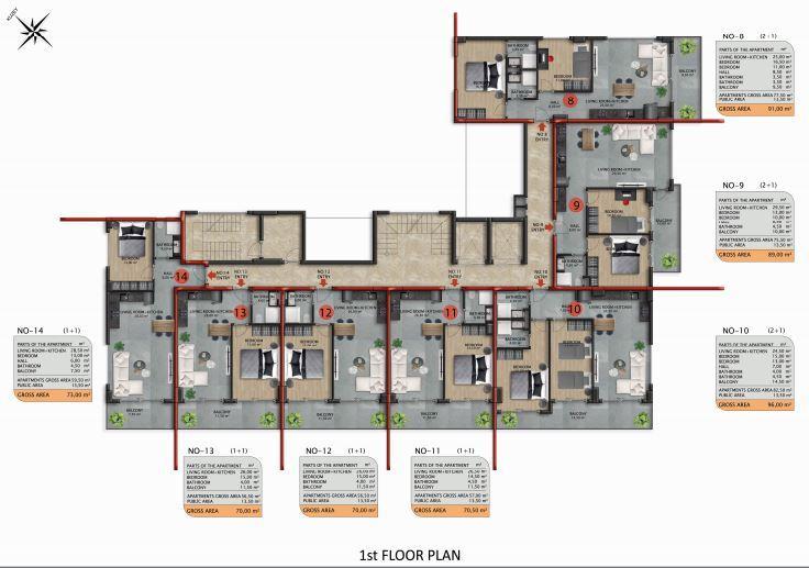 Апартаменты премиального класса в Авсаларе - Фото 42