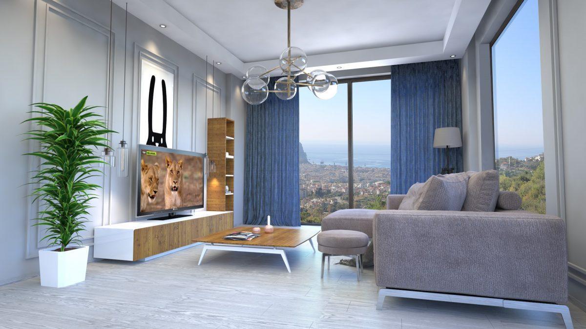 Апартаменты премиального класса  с панорамным видом в центре Алании - Фото 14
