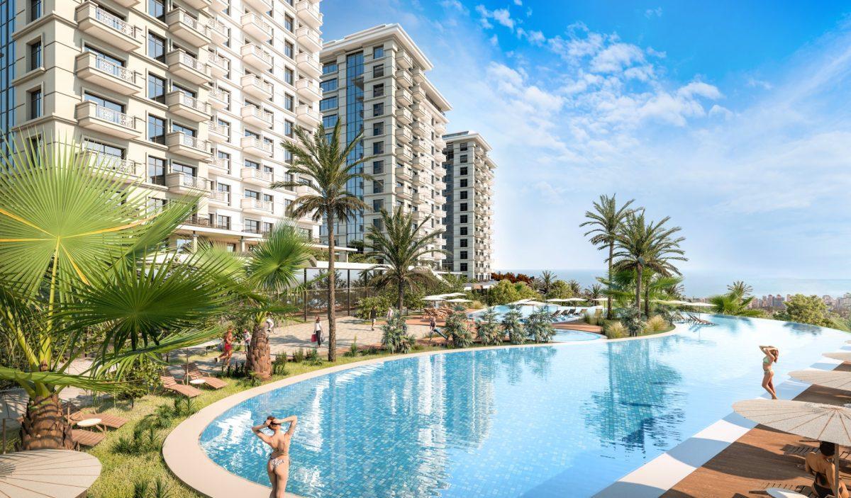 Квартиры в роскошном ЖК с собственным пляжем в Махмутларе - Фото 4