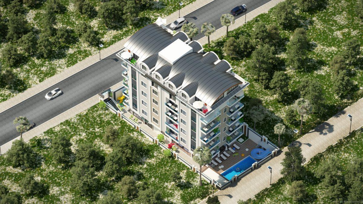 Инвестиционные двухуровневые пентхаусы  3+1 в Махмутлар - Фото 4
