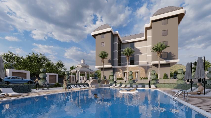 Жилой комплекс для инвестиций рядом с морем в Каргыджак - Фото 4