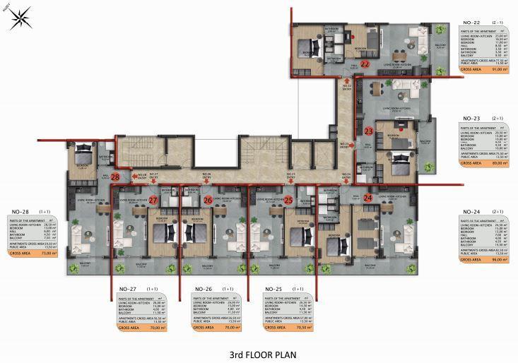 Апартаменты премиального класса в Авсаларе - Фото 44