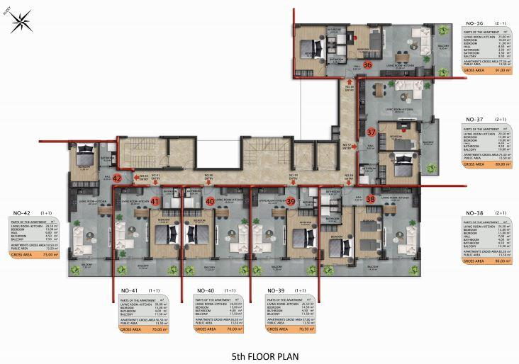 Апартаменты премиального класса в Авсаларе - Фото 46