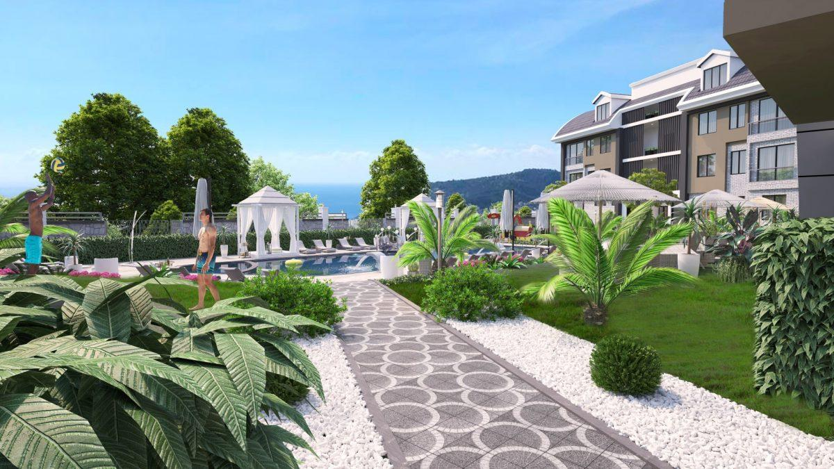 Апартаменты премиального класса  с панорамным видом в центре Алании - Фото 8