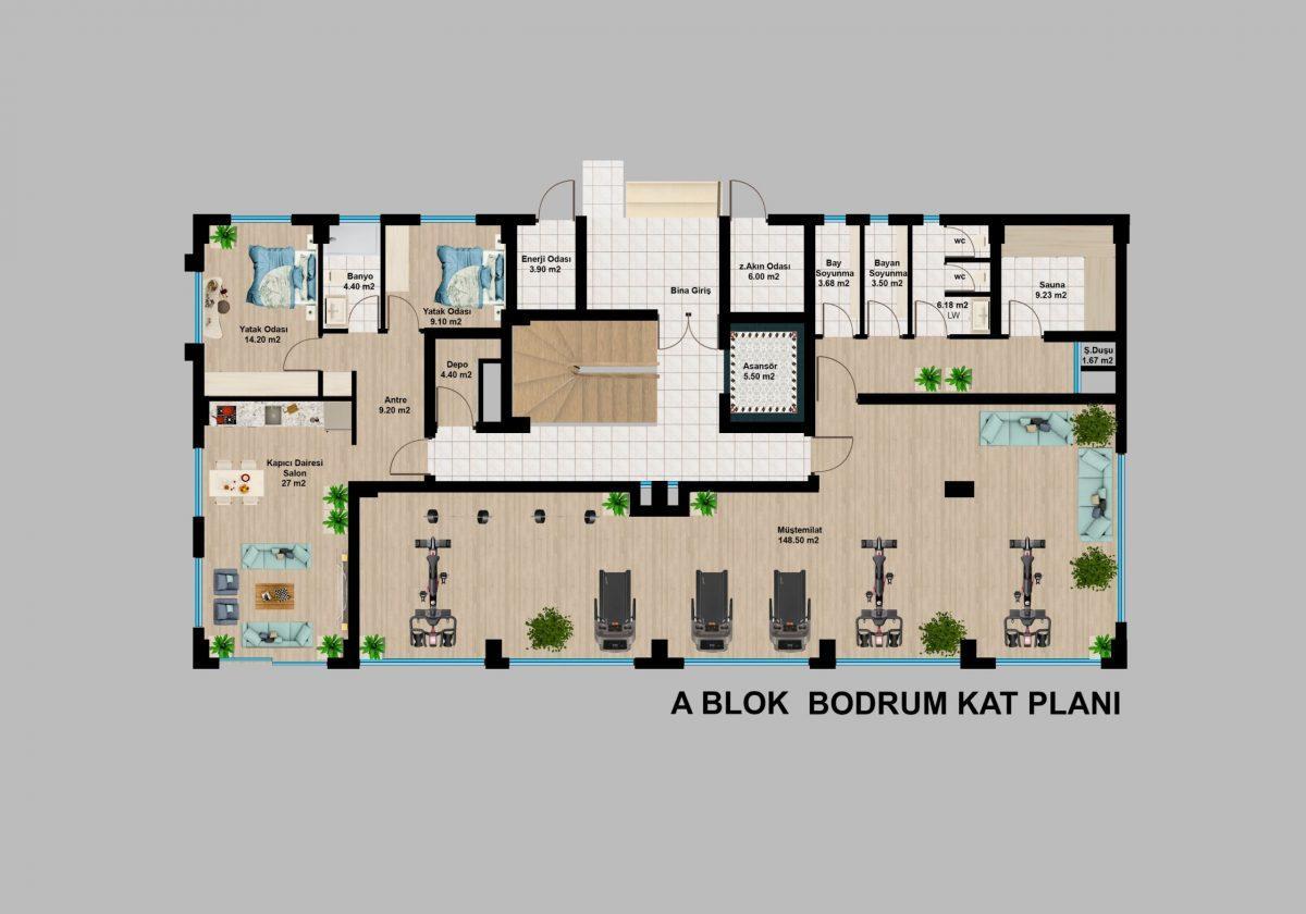 Апартаменты премиального класса  с панорамным видом в центре Алании - Фото 20