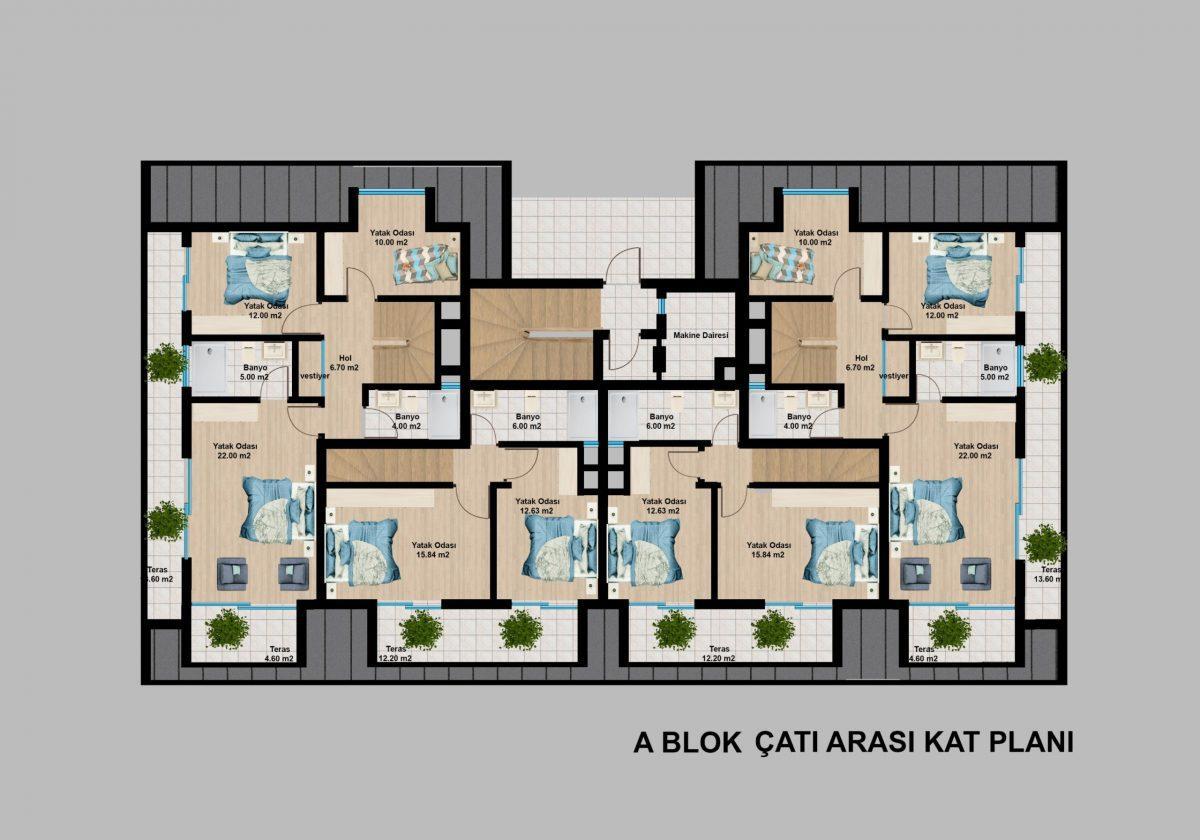 Апартаменты премиального класса  с панорамным видом в центре Алании - Фото 22