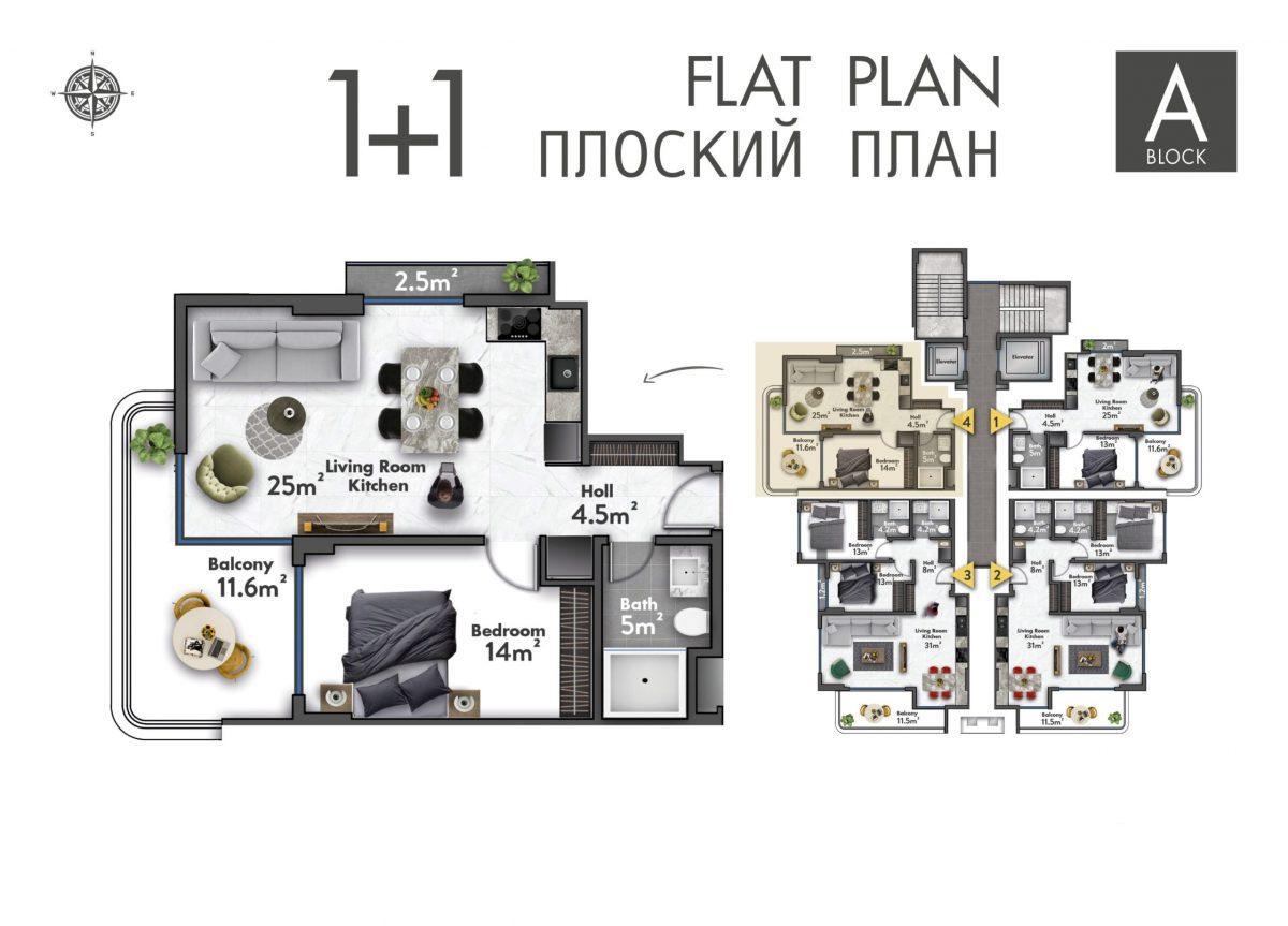 Квартиры в новом ЖК в центре Махмутлара - Фото 36