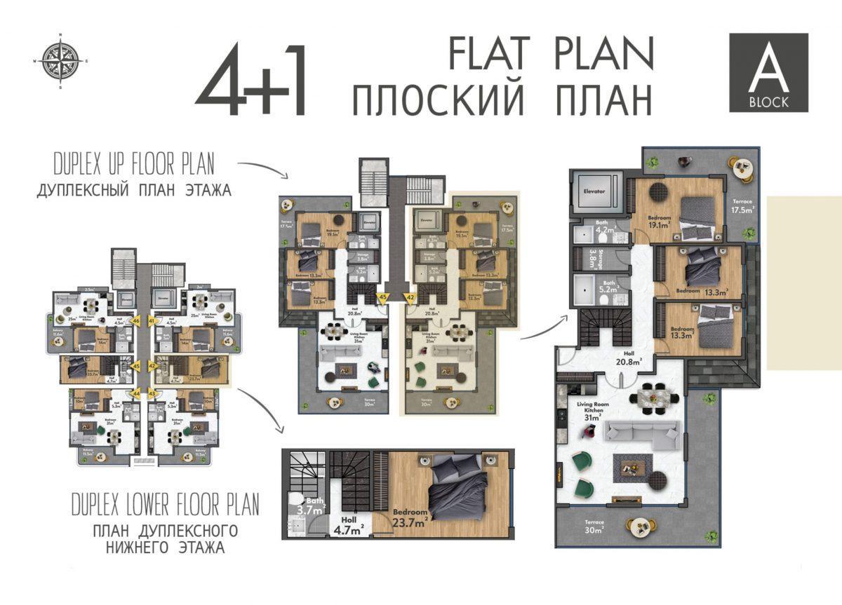 Квартиры в новом ЖК в центре Махмутлара - Фото 38