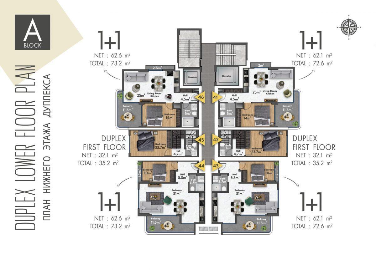 Квартиры в новом ЖК в центре Махмутлара - Фото 39