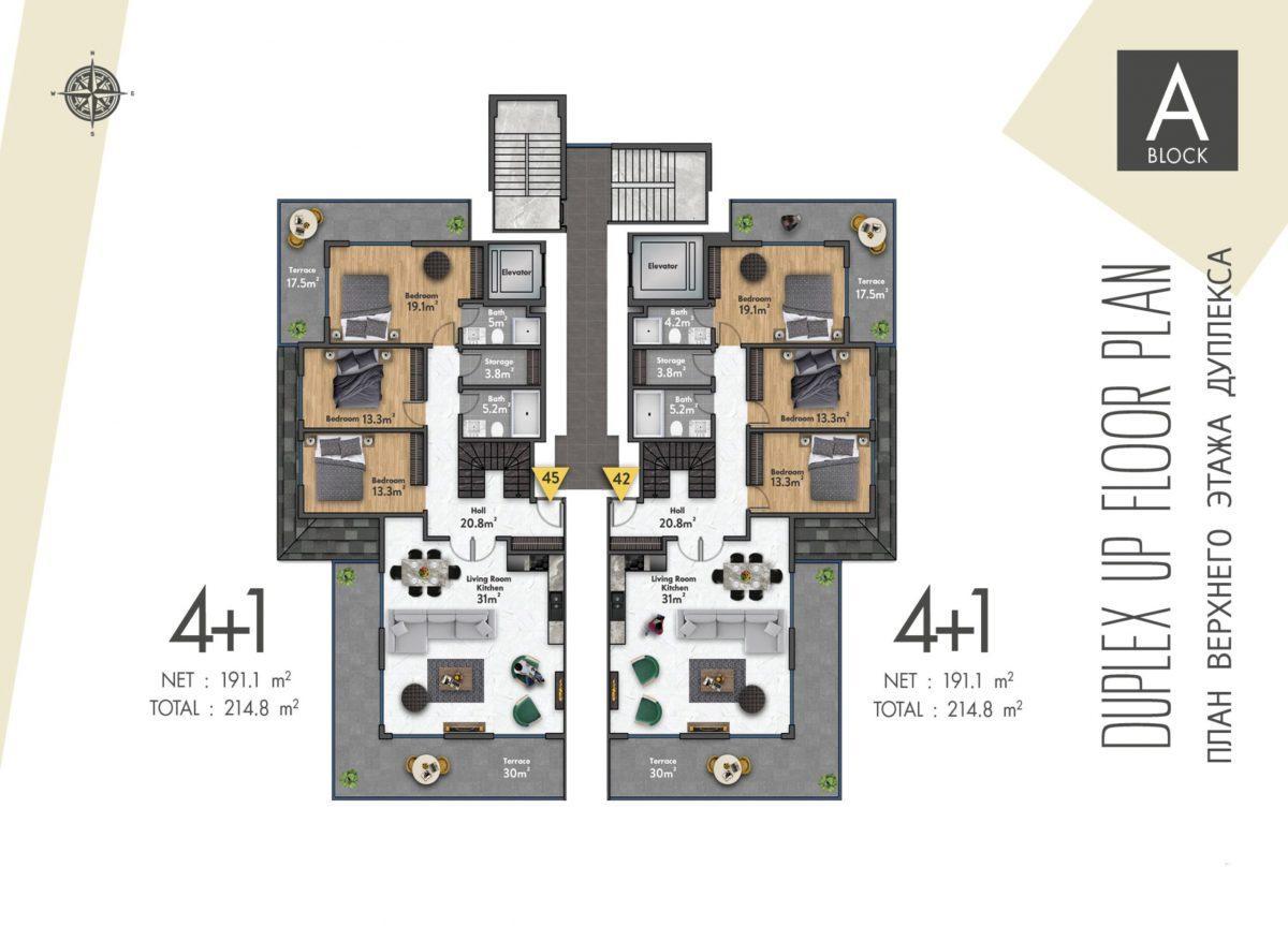Квартиры в новом ЖК в центре Махмутлара - Фото 40