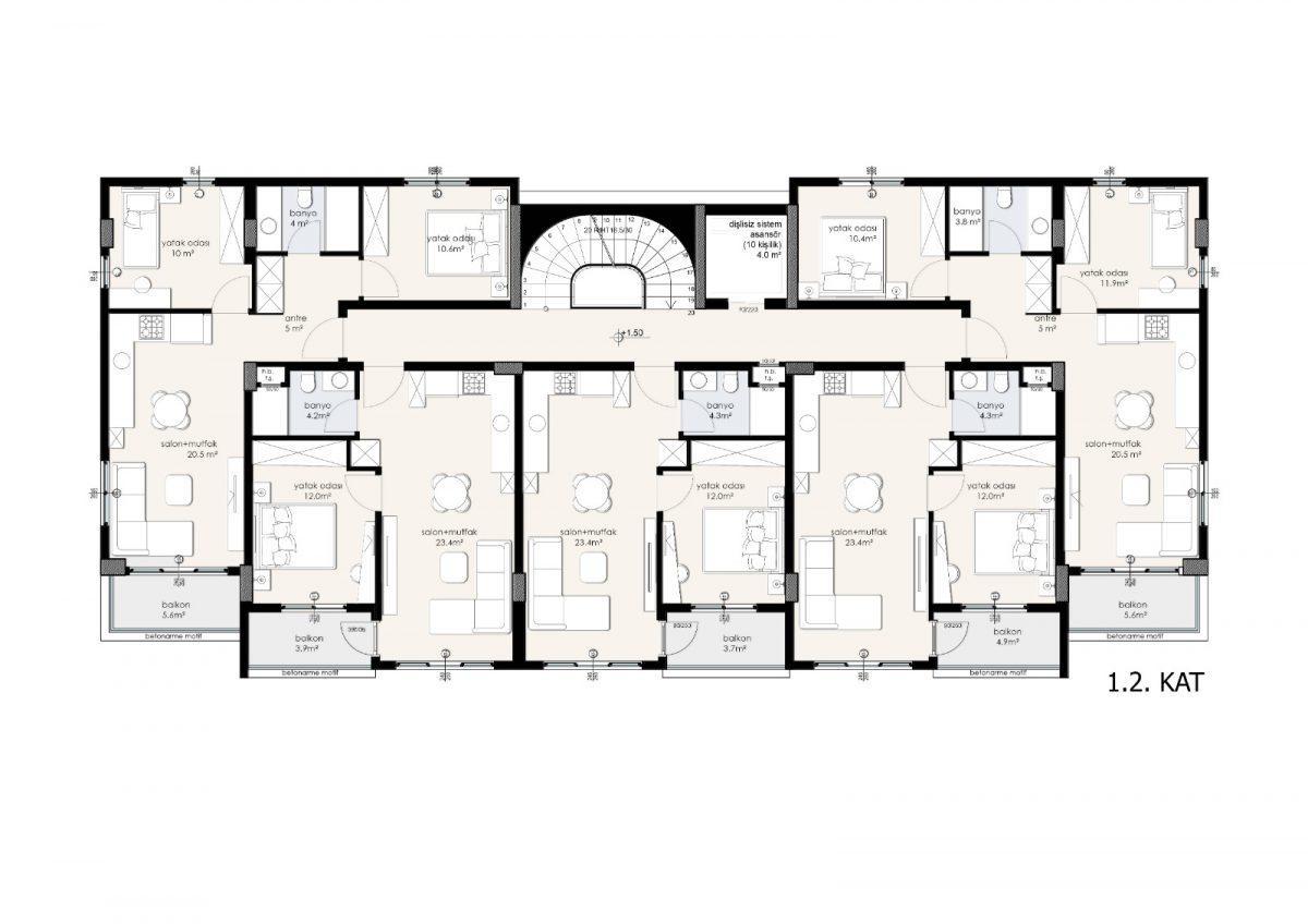 Жилой комплекс в центре Аланьи - Фото 3